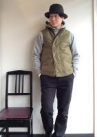 デッキベスト ジャングルクロス(カーキ) Deck Vest,Jungle Cloth,Khaki/Workers