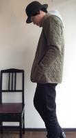 ライナーカーディガン カーキ Liner Cardigan,Khaki/Workers
