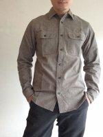 スーパービッグキャットシャツ グレーコバート SUPER BIG CAT Shirt, Gray Covert/Workers