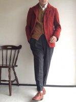 4Bクラシックウールジャケット ミディアムレッド(メンズS)4B CLASSIC WOOL JKT midiumred/DjangoAtour