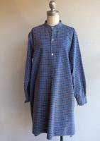 1950's French Work Shirt Gray×Blue