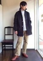 スプリングコート ベンタイル ダークネイビー Spring Coat, Ventile, Dark Navy/Workers
