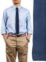 ���륯�˥åȥ������ͥ��ӡ���Silk Knit Tie,��Navy��Workers