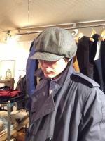ニュースボーイ ヘリンボーンキャップ newsboy herringbone cap/DjangoAtour