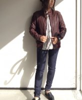 1970's German Leather Blouson Redish Brown