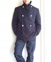 【Price off】1960's British Fireman Wool Coat DarkNavy
