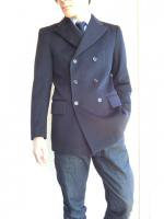 1970's Italian Navy P-Coat Jacket DarkNavy