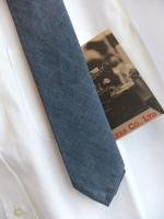 ナロータイ コットンリネン ブルー Narrow Tie, Cotton Linen Blue/Workers<img class='new_mark_img2' src='https://img.shop-pro.jp/img/new/icons48.gif' style='border:none;display:inline;margin:0px;padding:0px;width:auto;' />