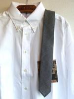 ナロータイ コットンリネン グレー Narrow Tie, Cotton Linen Gray/Workers<img class='new_mark_img2' src='https://img.shop-pro.jp/img/new/icons48.gif' style='border:none;display:inline;margin:0px;padding:0px;width:auto;' />