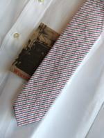 ナロータイ シアサッカートリコロールNarrow Tie, Seersucker Tricolor/Workers