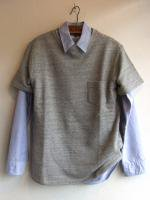 Short Sleeve Sweat Shirt, Gray/Workers