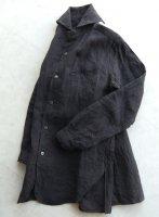 ヴィクトリアンズワークショールカラーシャツ ダークグレー victorians work shawlcollar shirt darkgrey/DjangoAtour ANOTHERLINE