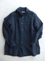 ヴィクトリアンズワークショールカラーシャツ ネイビー victorians work shawlcollar shirt navy/DjangoAtour ANOTHERLINE