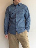 チャンピオンシャツ ブルーシャンブレー Champion Shirt, Blue Chambray/Workers
