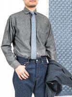 シルクニットタイ ブルーグレー Silk Knit Tie Blue Grey/Workers