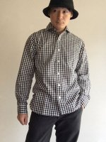 【20%OFF】Widespread Shirt, Black Gingham/Workers