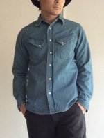 Western Shirt, Denim Washed/Workers
