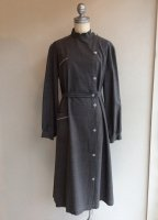 1950-1960's French Work Dress Coat Gray