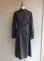 1950-1960's French Work Dress Coat Gray