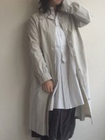 1930-1940's French Damaged Work Coat Ivory