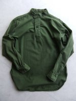 1960-1970's Swedish Military Pullover Shirt Khaki