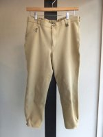 1980-1990's French Jersey Jodhpurs Pants Beige