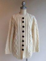 1980〜90年代 アランニットのカーディガン 1980-1900's Alan Knit Cardigan Ivory