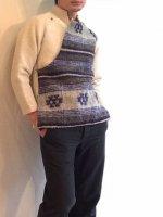 1960年代 東欧のウールブルゾン 1960's Euro Wool Jacket Blouson Ivory× Blue