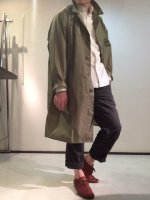 1983年製 フランス軍のナイロンコート 1983's Dead Stock French Military Nylon Coat Light Khaki