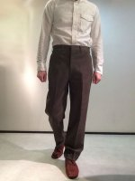 1970年代 L.L.Bean社製ウールトラウザー 1970's U.S Wool Leather Trimming Trousers by L.L.Bean Grey