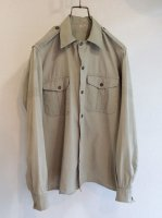 【Price off】1960's French Army Shirt Beige