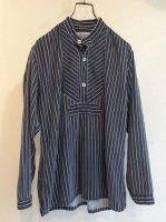 1960-1970's German Fisherman Shirt Grey × White