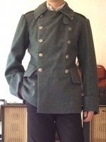 【Price off】1920's Swedish Military Officer's Coat Greenish Gray