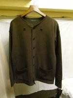 フレンチワーカーズニットカーディガン frenchworkers knit cardigan darkbrown/DjangoAtour ANOTHERLINE