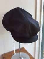 worques cap heavylinen black へヴィリネンブラック size-2(約58-59cm)/DjangoAtour