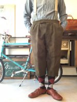 1970's Austrian Shooting Trousers Khakish Gray(サスペンダー付き)