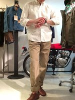 ワーカーズオフィサートラウザーズ Workers Officer Trousers, Slim Tapered、Chino Khaki/Workers