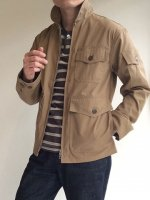 Summer Flight Jacket, High Count Twill Beige/Workers