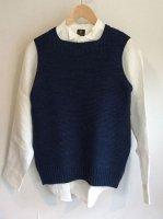 コットンニットインディゴベスト cotton knit indigo vest indigoblue/DjangoAtour