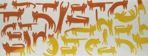 ねこネコ猫(黄×橙)