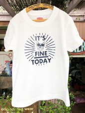 T-Shirt ★ 110 size FINe TO DAY-White