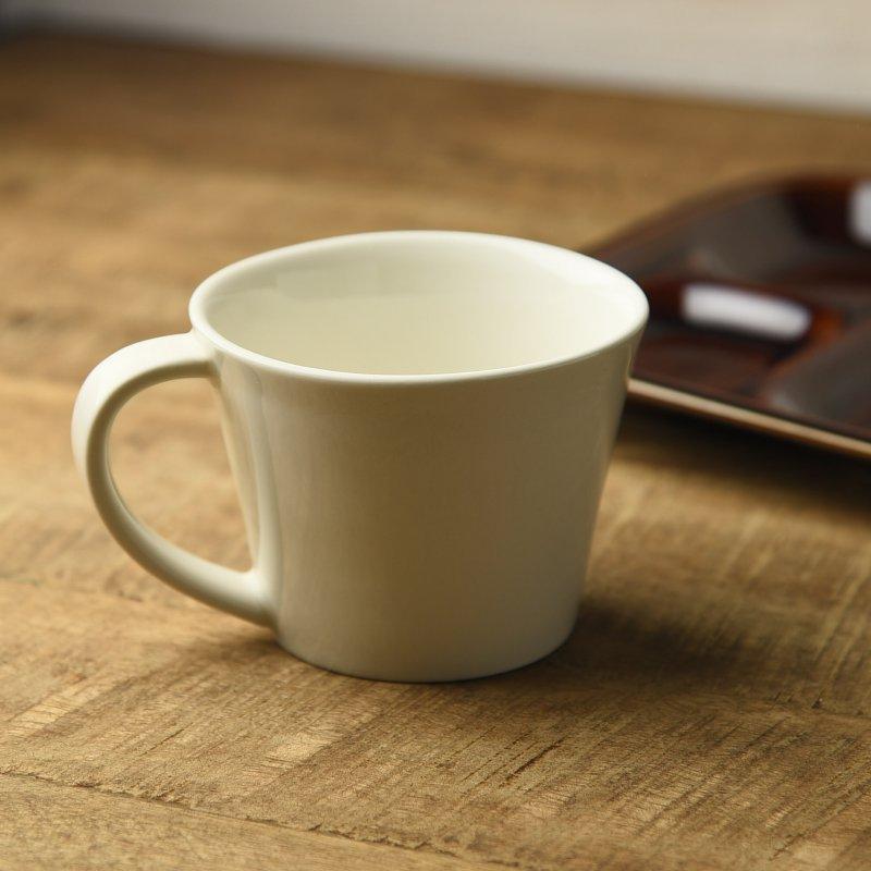 プレーン アイボリー 12.8cmマグカップ[アウトレット訳あり][美濃焼]