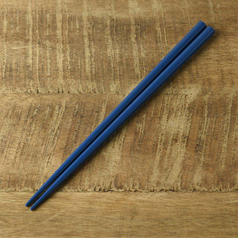 【メール便対応】カラフルスティック箸 ブルー