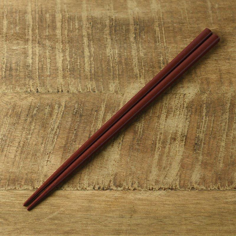 【メール便対応】カラフルスティック箸 ブラウン