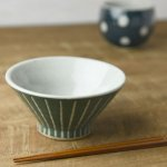 ★ラッピング無料★手しごと 13cm富士山型茶碗 みどり 十草[美濃焼]