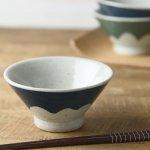 手しごと 12cm富士山型茶碗 あい 富士山[美濃焼]