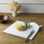miyama. for DINNER-フォーディナー- 和紙フラットプレート 白磁(裏印無し)[美濃焼]