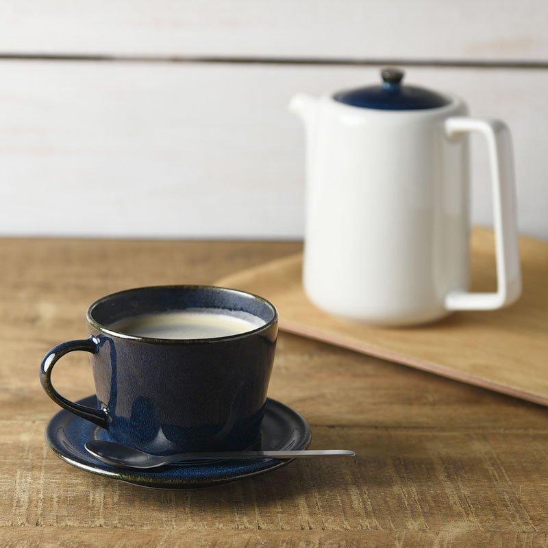 ★ラッピング無料★北欧ブルー 深ブルー コーヒーカップ&ソーサー[美濃焼]