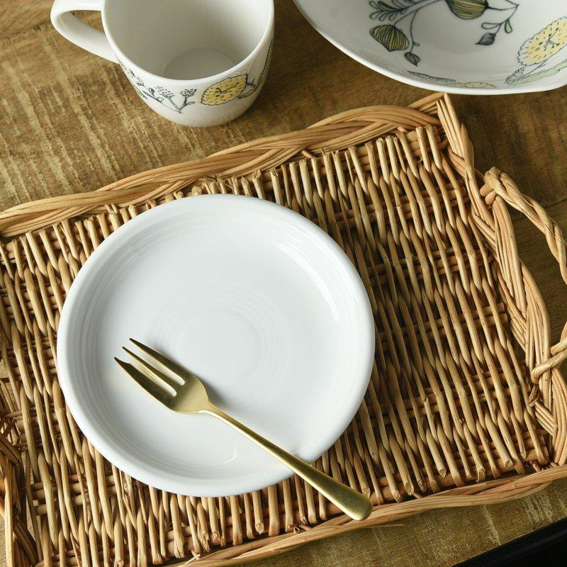 オービット ホワイト 15.5cmパン皿[アウトレット訳あり][美濃焼]