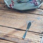【メール便対応】ラヴァストーン マットブラックカトラリー バターナイフ(ダメージ加工)[燕三条]